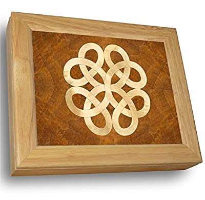 MarqART Wood Art Celtic Knot Box -Unique, No Two are The Same -Unmatched Quality -Original Work of Wood Art -Handmade in USA from MarqArt Wood Designs