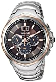 Seiko Men's COUTURA Chronograph Japanese-Quartz Watch with Stainless-Steel Strap, Two Tone, 22 (Model: SSC628)