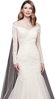 94d66358072 David s Bridal Long Sleeve Off-The-Shoulder Trumpet Wedding Dress Style  WG3943