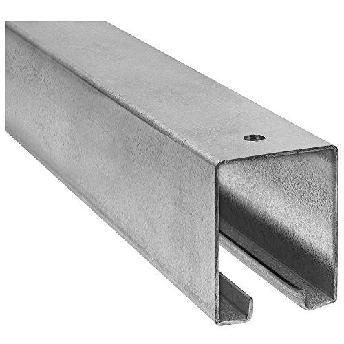 National Hardware Stanley N105-726 5116 Plain Box Rail in Galvanized Steel, 8'