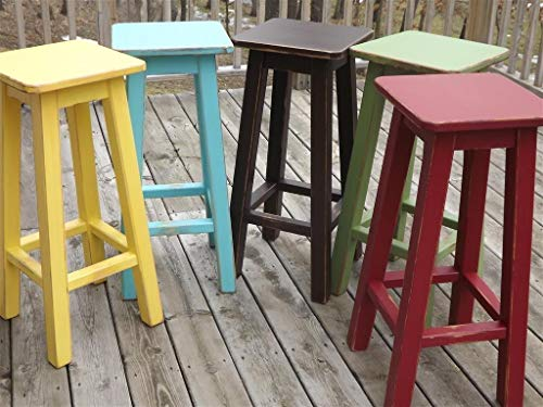 """Painted bar stool/counter stool/wood/distressed/color's 25""""-28""""-30"""" high"""