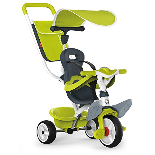 Smoby - 741100 - Tricycle Baby Balade 2 - Tricycle Evolutif avec Roues Silencieuses - Dispositif Roue Libre - Vert