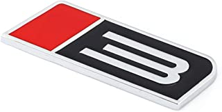 TAYDMEO Metal Turbo 3 Emblem Badge Car Stickers Auto Decal, para Ford Mustang Stage 3 GT Fiesta