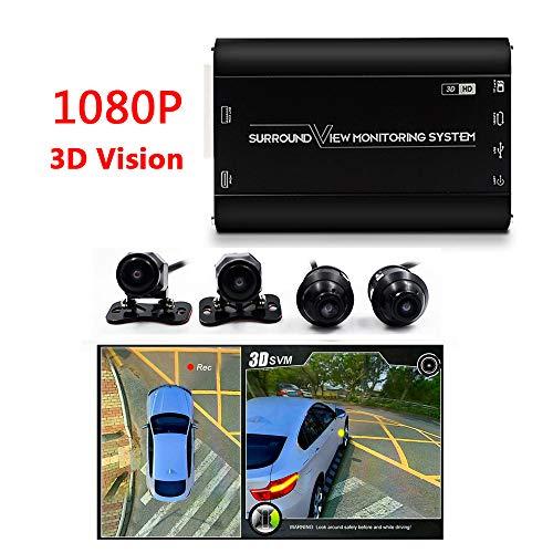 1080P HD 3D Panorama-Kamera 360 Grad Nahtlose Surround-Ansicht Digitaler Video Rekorder Park System, Auto-Kamera Alle Rund Nacht Vision Wasserdichte Rückfahrkamera