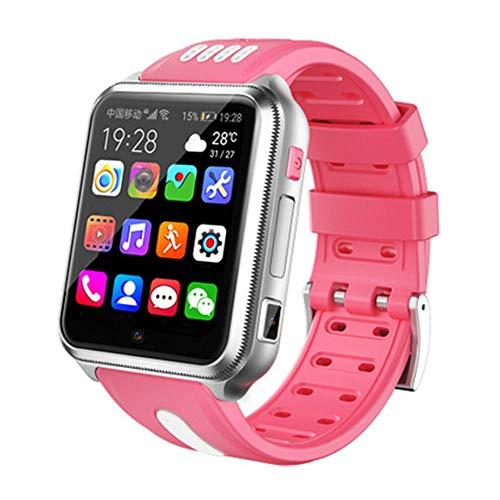 HDSJJD Smartwatch, Intelligente Vigilanza del Telefono Posizionamento dei Bambini 4G Pieno Netcom Android WiFi Macchina Fotografica Impermeabile, Compatibile con Android E iOS,B