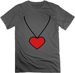 Wangtingting Men's Necklace Heart 2c T-Shirt