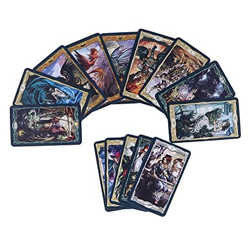 Conjunto de 78 cartas de tarô Cartas de tarô clássicas de Rider Waite Cartas de jogar de adivinhação Rider Waite Tarot Deck Ideal para iniciantes e leitores experientes (versão em inglês)