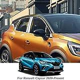 Piaobaige Finestrino per Auto Completo per Renault Captur 2020- Accessori Esterni per Adesivo con Paillettes per Pilastro Centrale per Finestra