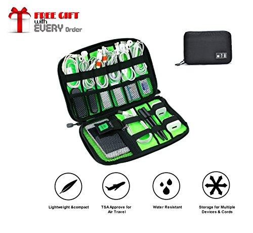 Ducomi CableTop - Organizer Cavi da Viaggio Universale - Borsa Impermeabile per Accessori Elettronici - Organizzatore Cavi Elettrici, USB, Hard Disk, Carica Batterie con Zip ed Elastici (Black)