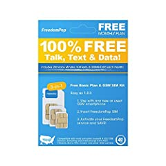 LTE SIM kit - 3-in-1 - voice/data bundle Enjoy plenty of minutes, texts, and data when you buy a freedom pop SIM plan, starting from just $0! free 4G LTE basic plan: 200 minutes, 500 texts & 200MB LTE data per month No contract and no cancellation fe...