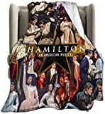 Hamilton Musicales Micro Fleece Bed Blankets Super Soft Cozy Luxury Couch Blanket80'X60'