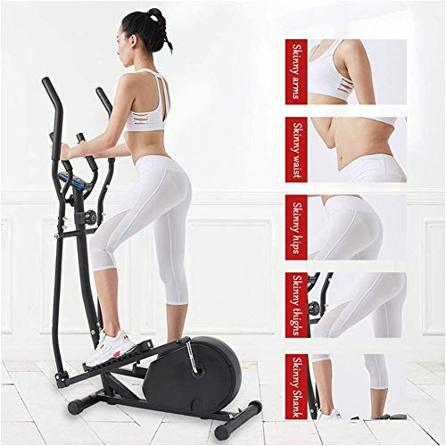 Zixin Manuelle Laufband 440 LB Max Gewicht/Übungsgeräte for Home Elliptical w/LCD-Monitor/Indoor Cycling Bike/Compact Elliptische Maschine/Oliptical Maschine