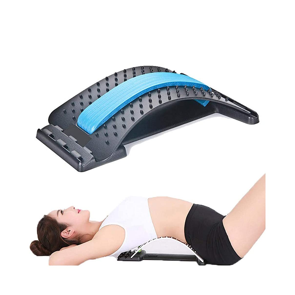 深めるそれに応じて告白するストレッチ装置背中マッサージ器マジック伸縮器フィットネス腰椎サポートリラクゼーション脊柱痛緩和 (色 : A)