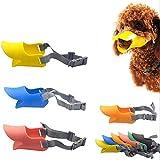 Pengwei Small Pet Dog Muzzle Silicone Mask Dog Duck Muzzle Anti-bite Anti-Eating Anti-Barking New Dog Muzzle (Orange)
