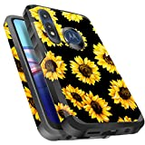 Miss Arts Moto E 2020 Case, Moto E Case, Slim Anti-Scratch with [Drop Protection] Cute Girls Women Heavy Duty Dual Layer Hybrid Sturdy Armor Protective Cover Case for Motorola Moto E 2020 -Sunflower