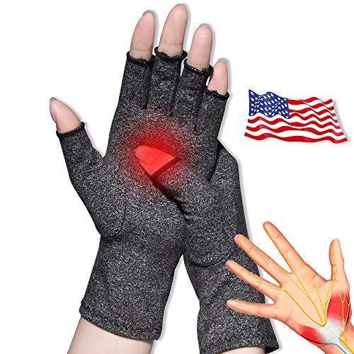 Arthritis Handschuhe,Neues Material, Kompression für Arthritis Schmerzlinderung Rheumatoide Arthrose, Premium Kompression und Fingerlose Handschuhe für die Tägliche Arbeit.(Mittlere Größe)