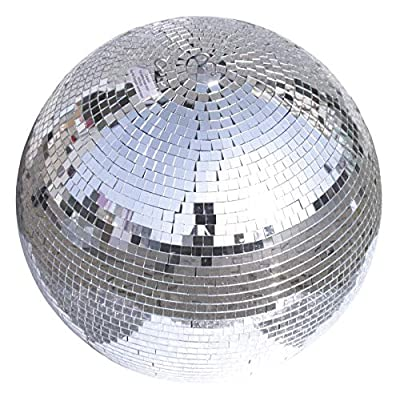 Eurolite Mirror Ball 50 cm | Disco Ball for Party Room, Club, Bar, Disco | Mirror Ball with 10 mm Real Glass Facets | With Retaining Eye and Second Eyelet for Fall Protection | Gaps Glued
