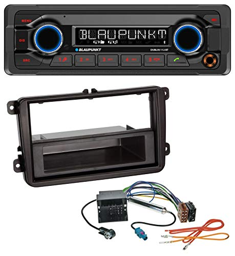 caraudio24 Blaupunkt Dublin 112 BT MP3 USB Bluetooth AUX Autoradio für Skoda Praktik/Superb/Yeti