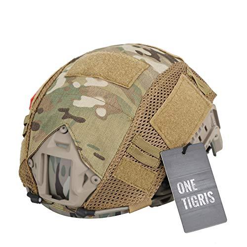 OneTigris Camouflage Helmet Cover Without Helmet 500D Cordura Nylon for Fast PJ Helmet in Size M/L (Multicam)