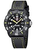 Luminox Navy Seal Black Outdoor Mens Watch Yellow Hands (XS.3025): Swiss Made, 200m Water Resistant, Ultra-Light Carbon Case and Bracelet