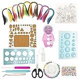 21 Pcs Quilling kit, Herramientas de Filigranas de Papel de Tiras con 900 Tiras de Papel de 40 colores de 5x390mm, patrón aleatorio y Pegatinas de ladrillo para arte quilling,manualidades de papel DIY