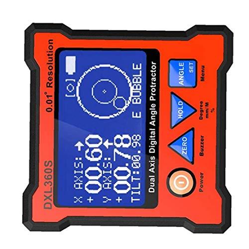 Ángulo de nivel digital Calibre Mini Angle Finder nivel del compartimento base magnética y Medidor de luz de fondo LCD de bisel inclinómetro para carpintería, construcción, automóvil