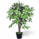 vidaXL Birkenfeige Ficus Benjamini Kunstpflanze künstliche Zimmerpflanze Baum