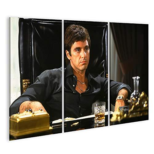 islandburner Bild Bilder auf Leinwand Pacino Scarface Kult Film Tony Montana Wandbild Poster Leinwandbild PacinoV2