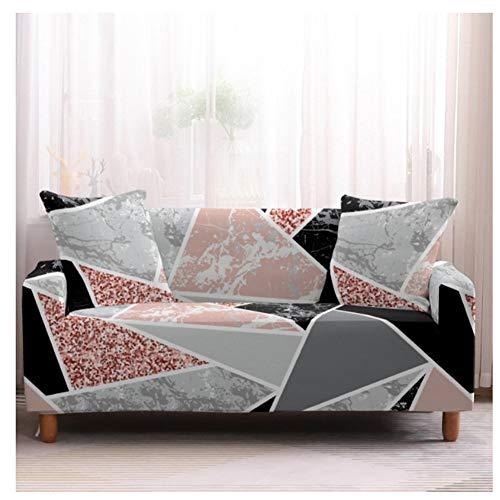 empty Elastische Sofagarnituren, Armlehne Mit Wohnzimmer-Sofabezug, rutschfeste All-Inclusive-Sofagarnituren, Farbdreieck-Mosaik 90x140cm