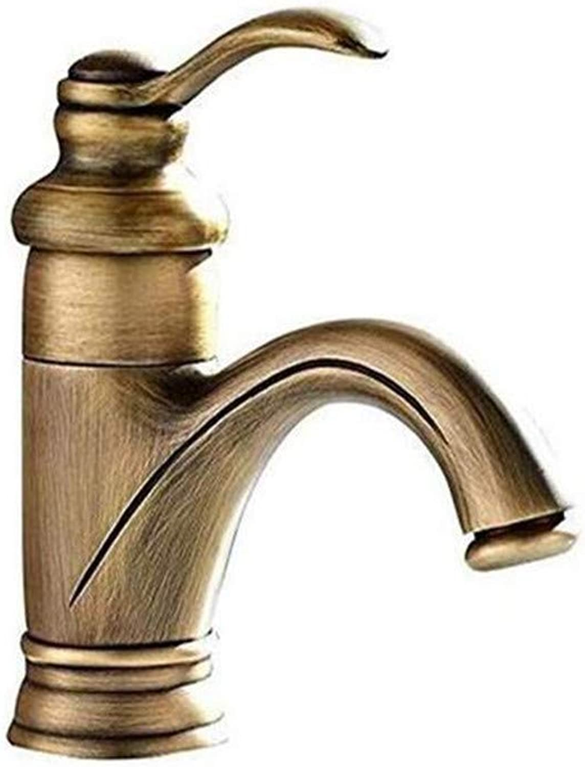 Kitchen Bath Basin Sink Bathroom Taps Brass Single Handle Hot and Cold Mixer Taps Single Hole Mixer Ctzl2913