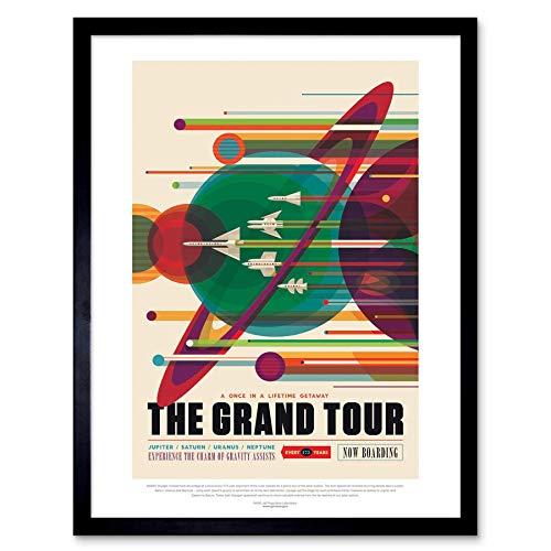 Wee Blue Coo Nasa Space Exploration Travel Advert Grand Tour Art Print Framed Poster Wall Decor 12x16 Inch Spazio Viaggio Pubblicità Grande Manifesto