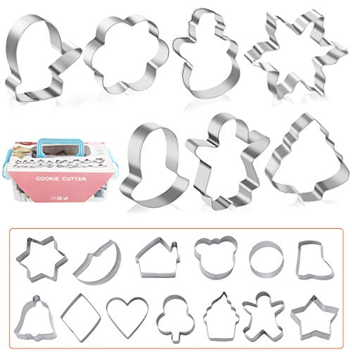 Stainless Steel Cookie Cutters, Set of 20