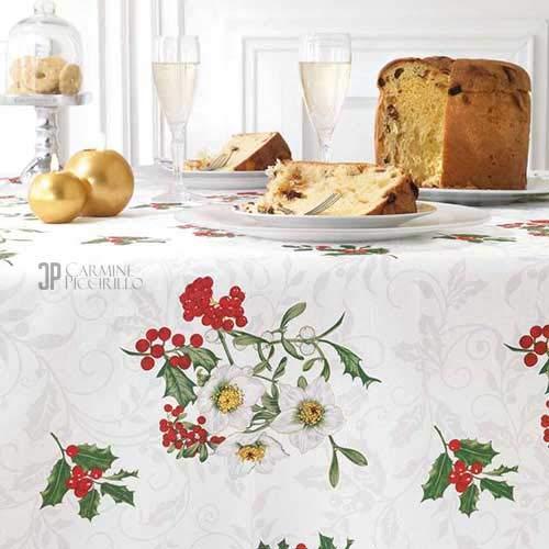 Vallesusa - Collezione Merry Christmas - Tovaglia Rettangolare Senza Tovaglioli - EXCELLENTE (Rettangolare x 12)