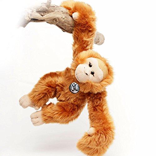 Orang Utan BORNEO Affe Menschenaffe 42 cm Schlenkeraffe Hangelaffe Acrobats Plüschtier von Kuscheltiere.biz