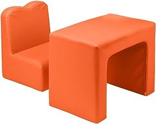 Alightup Table et Chaise Multifonctionnelles pour Enfant, Fauteuil pour Enfant Permutable pour Enfant (Orange)