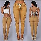 BOOSSONGKANG Pantalones de Cuero, Pantalones de Mujer Pantalones de lápiz Sexy de Cintura Alta Otoño 2020...