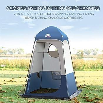 Buycitky Cabine de Douche Camping, Tente de Douche Portable Vestiaire, Tente d'extérieur Tente Toilette, Abri Portable, Cabine d?essayage Mobile, 160 x 160 x 240 CM