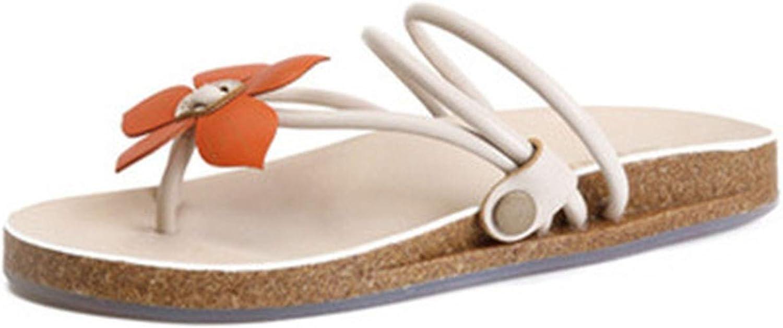goldsmyth Low Slippers Rubber Beach Flat Outside Leather Female Summer Flower Flip Flops Heel Sandals