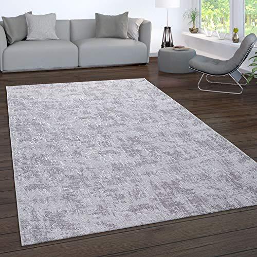 Paco Home Teppich Wohnzimmer Kurzflor Waschbar 3D Effekt Modernes Orientalisches Muster, Grösse:120x180 cm, Farbe:Grau