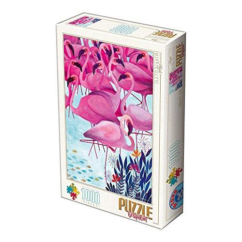 Unbekannt D de Toys 2–Puzzle 1000Andrea Kurti–Tropical: Flamencos