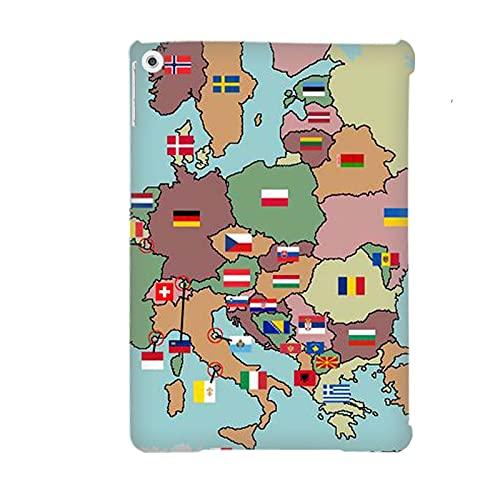 Kid original duro rígido plástico teléfono caso compatible para Apple iPad Air 2Nd tienen con mapa del mundo