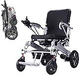 QINMH Silla de Ruedas eléctrica Fold & Travel Light para discapacitados y Ancianos (incluida una batería de Litio de 20a) - Ancho de Asiento de 19'