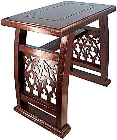 Max 70% safety OFF Design Toscano St. Thomas Gothic Stool Wooden Aquinas