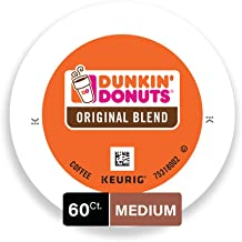 Dunkin' Donuts Original Blend Medium Roast Coffee, 60 K Cups for Keurig Makers