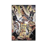コービー・ブライアントがアートに敬意を表するポスター装飾絵画キャンバス壁アートリビングルームポスター寝室絵画、キャンバスアートポスターと壁アート写真プリント現代の家の寝室の装飾ポスター16×24inch(40×60cm)