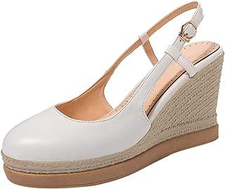 VulusValas Women Wedge Heel Pumps Shoes