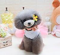 Karchi 犬猫服 2017 新しいファッション夏春かわいい子犬猫かわいいピンク ボンボンスカート服 小型犬猫服 犬猫ペット服 綿犬猫服 犬猫洋服 可愛い ペット用品 散歩 犬猫用(サイズ:XS;S;M;L;XL) (XL)