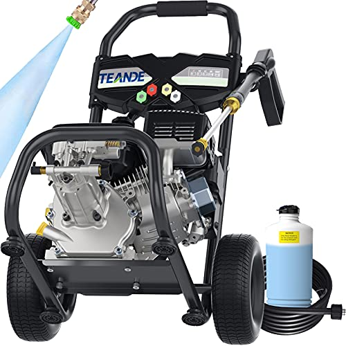 Product Image of the TEANDE 4200PSI Gas Pressure Washer 2.8GPM Power Washer 212CC Gas Pressure Washer Powered, High-Pressure Hose 5 Nozzles (Black)