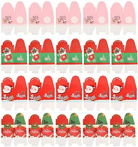 Vrolijk kerstfeest Bonbondoos Kerstman Kerstboom Laarzen Krans Geschenkdoos met handvat Fruit Snoepjes Draagtassen Koekjes Goodies Doos Feestdagen Snoepzakken 20st