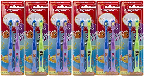 Colgate Ocean Explorer Extra Soft Kids Toothbrush, 2 Count (Pack of 6) Total 12 Toothbrushes